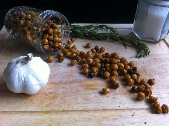 Roasted Chickpeas with Rosemary Garlic Oil & Sea Salt