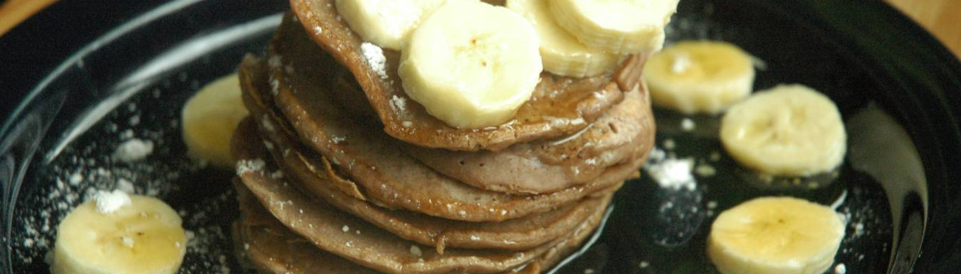 Chocolate Almond Milk Pancake