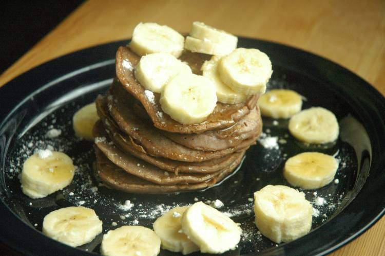 Chocolate Almond Milk Pancake